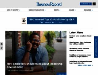 businessrecord.com screenshot