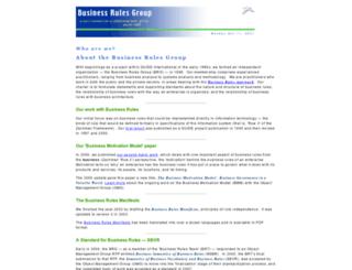businessrulesgroup.org screenshot