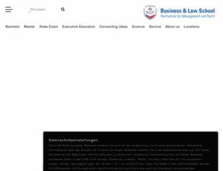 businessschool-berlin.de screenshot