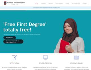businessschool.mv screenshot