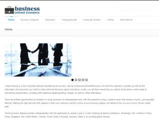 businessschoolresource.com screenshot