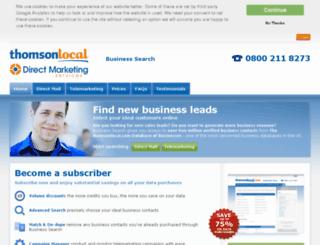 businesssearch.thomsonlocal.com screenshot