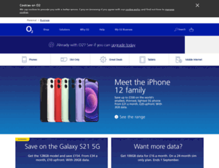 businessshop.o2.co.uk screenshot