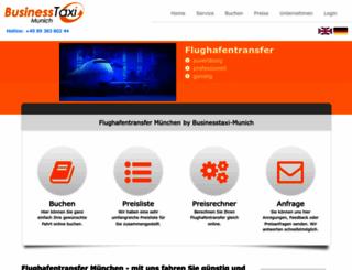 businesstaxi-munich.de screenshot