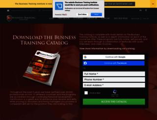 businesstraining.com screenshot
