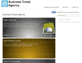 businesstravelagency.co.za screenshot