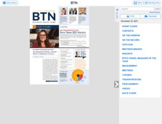 businesstravelnews.texterity.com screenshot