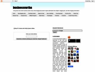businessvartha.blogspot.com screenshot