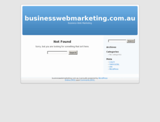 businesswebmarketing.com.au screenshot