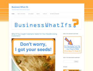 businesswhatifs.com screenshot