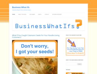 businesswhatifs.com screenshot