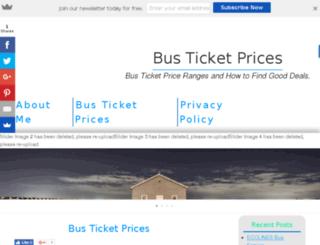 busticketprices.org screenshot