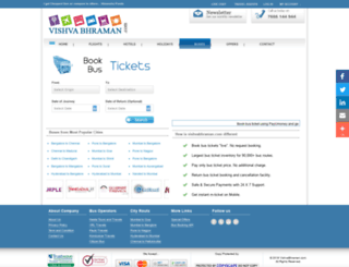 bustickets.vishvabhraman.com screenshot
