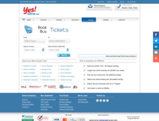 bustickets.yesmytrip.com screenshot