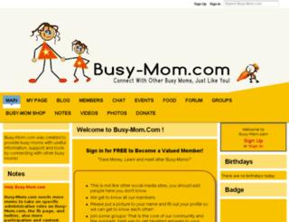busy-mom.ning.com screenshot