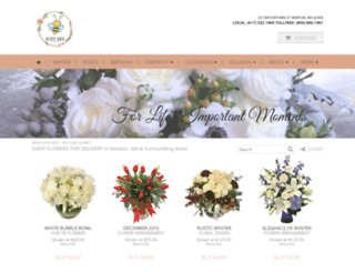 busybeeflowersnewton.com screenshot