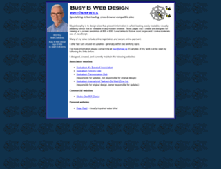 busybwebdesign.com screenshot