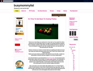 busymommylist.com screenshot