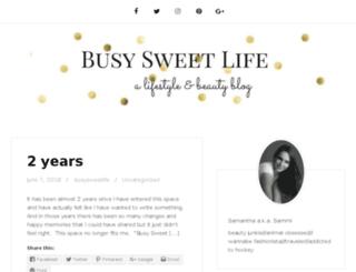 busysweetlife.com screenshot
