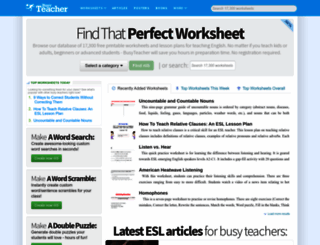 busyteacher.org screenshot