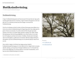 butikindretning.dk screenshot