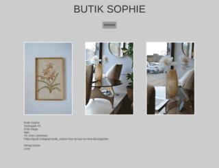 butiksophie.dk screenshot