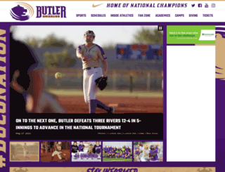 butlercc.prestosports.com screenshot