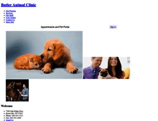 butlerclinic.vetstreet.com screenshot