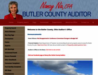 butlercountyauditor.org screenshot
