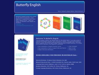 butterflyenglish.com screenshot