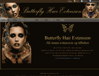 butterflyhairextension.no screenshot