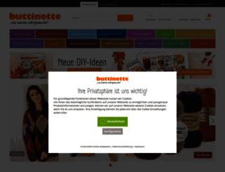 buttinette.de screenshot