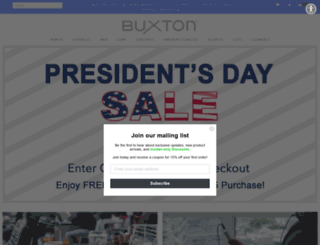 buxtonstyle.com screenshot