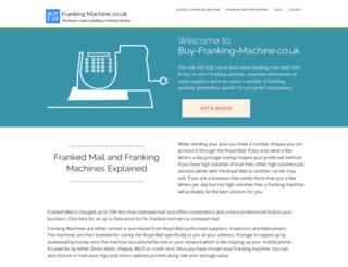buy-franking-machine.co.uk screenshot