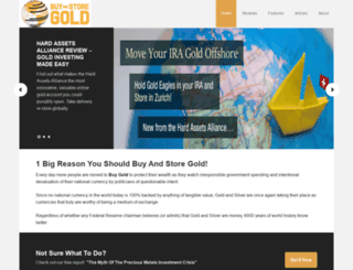 buyandstoregold.com screenshot