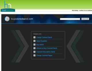 buycoloredsand.com screenshot