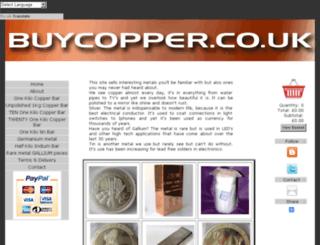 buycopper.co.uk screenshot