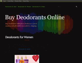 buydeodorantsonline.blog.com screenshot