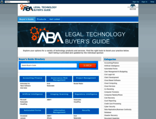 buyersguide.americanbar.org screenshot
