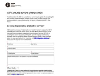 buyersguide.asha.org screenshot