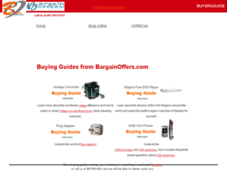 buyersguide.bargainoffers.com screenshot