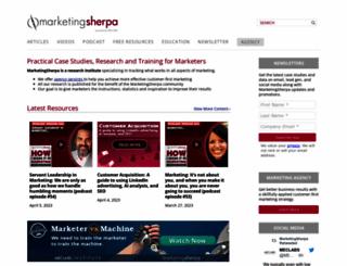 buyersguidenominations.marketingsherpa.com screenshot
