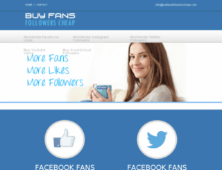 buyfansfollowerscheap.com screenshot