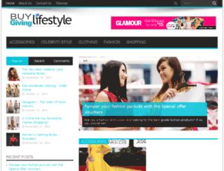 buygivinglifestyle.com screenshot