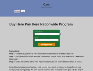 buyherepayherecheapcars.com screenshot