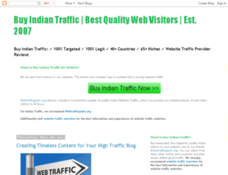buyindiantraffic.net screenshot