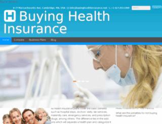 buyinghealthinsurance.net screenshot