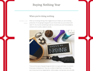 buynothingyear.com screenshot