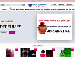 buyperfumesonline.in screenshot