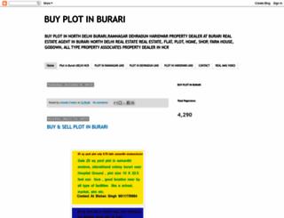 buyplotinburari.blogspot.in screenshot